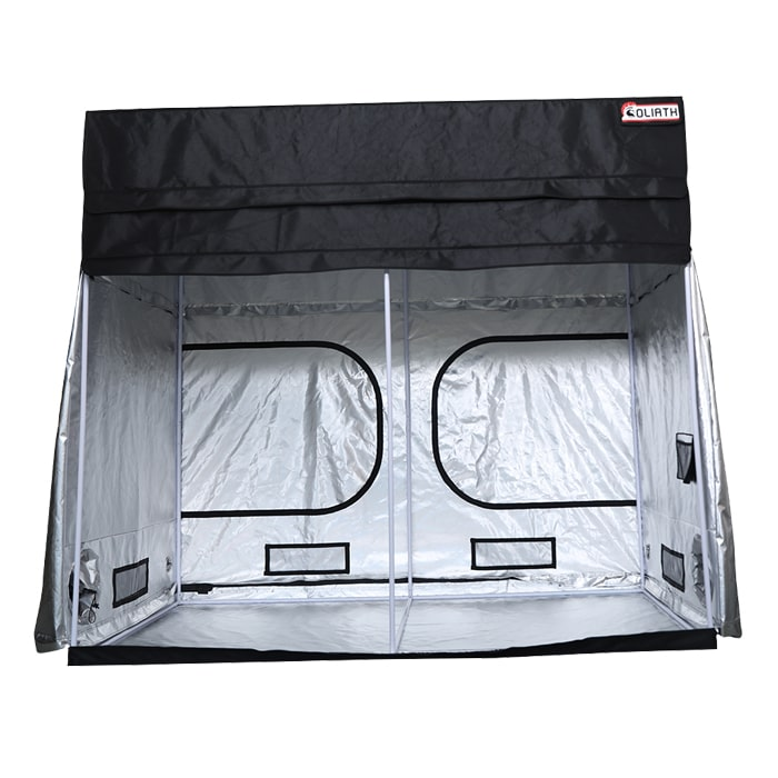 "front open The Goliath Grow Tent 5' x 9' x 6'11""/7'11"""
