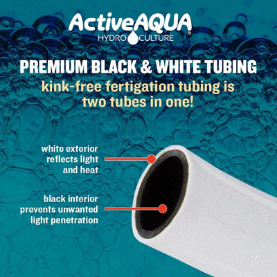 premium black and white tubing for irrigation