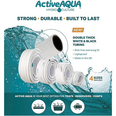 double think white and black tubing for reservoirs and pumps