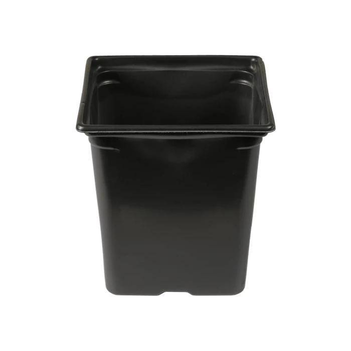 Black Square Pot - 3.25'' x 3.25'' x 3.5'' 0.5qt