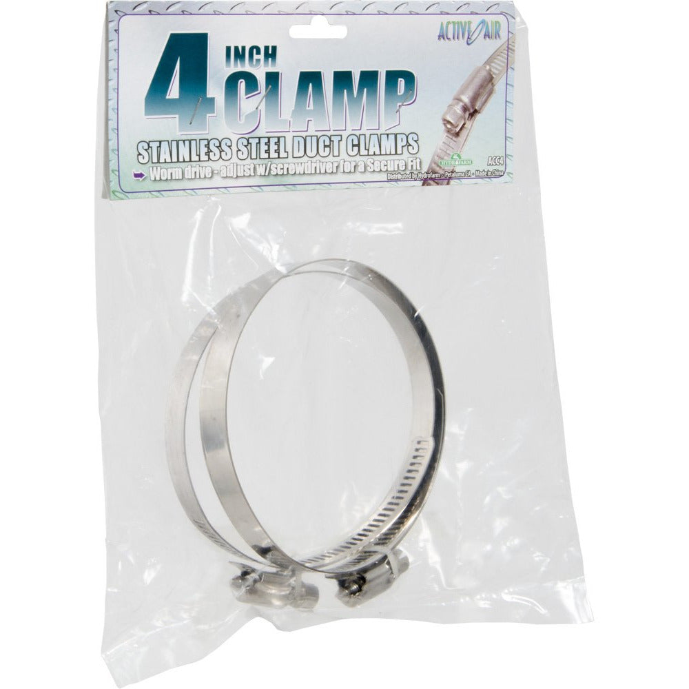 Stainless Steel Duct Clamps, 4""