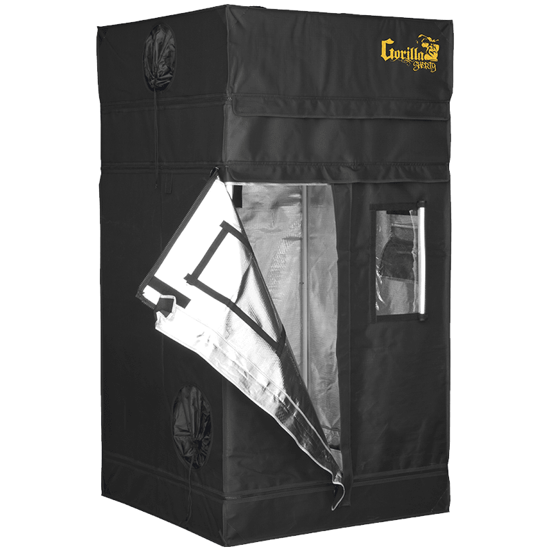half open The Gorilla Grow Tent® Shorty 3' X 3' X 4'11""