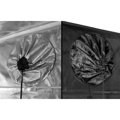 "Port Holes Inside and Outside of Gorilla LITE LINE Indoor 2' x 2.5' x 5'7"" Grow Tent"