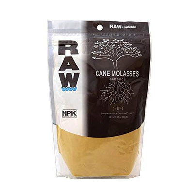 Raw Brown Cane Molasses Enhance 0-0-1 Front Packaging