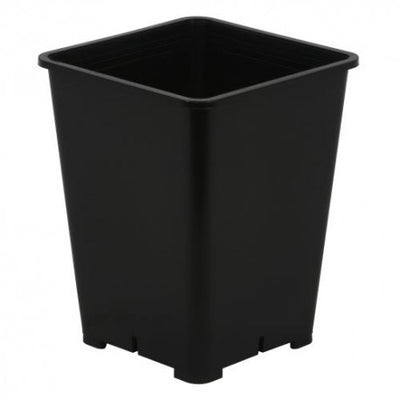 single view of the black square pot