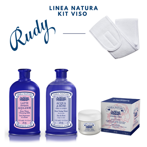 LINEA NATURA KIT VISO - Refreshing Rose Water Kit 3Pz freeshipping - rudyperfumes