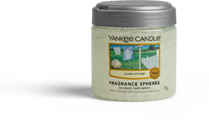 Yankee Candle, clean cotton, sfere profumate, candele profumate, profumi, regalo, colori, candele americane