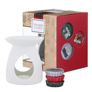 Glass&Lux, Yankee Candle Olbia, Set Bruciatore, Cera da fondere, Candele profumate, Natale, idea regalo, Christmas collection