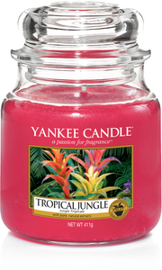 Yankee Candle, Tropical Jungle, tropicale, giungla, giara media, candele profumate, profumi, regalo, colori, candele americane
