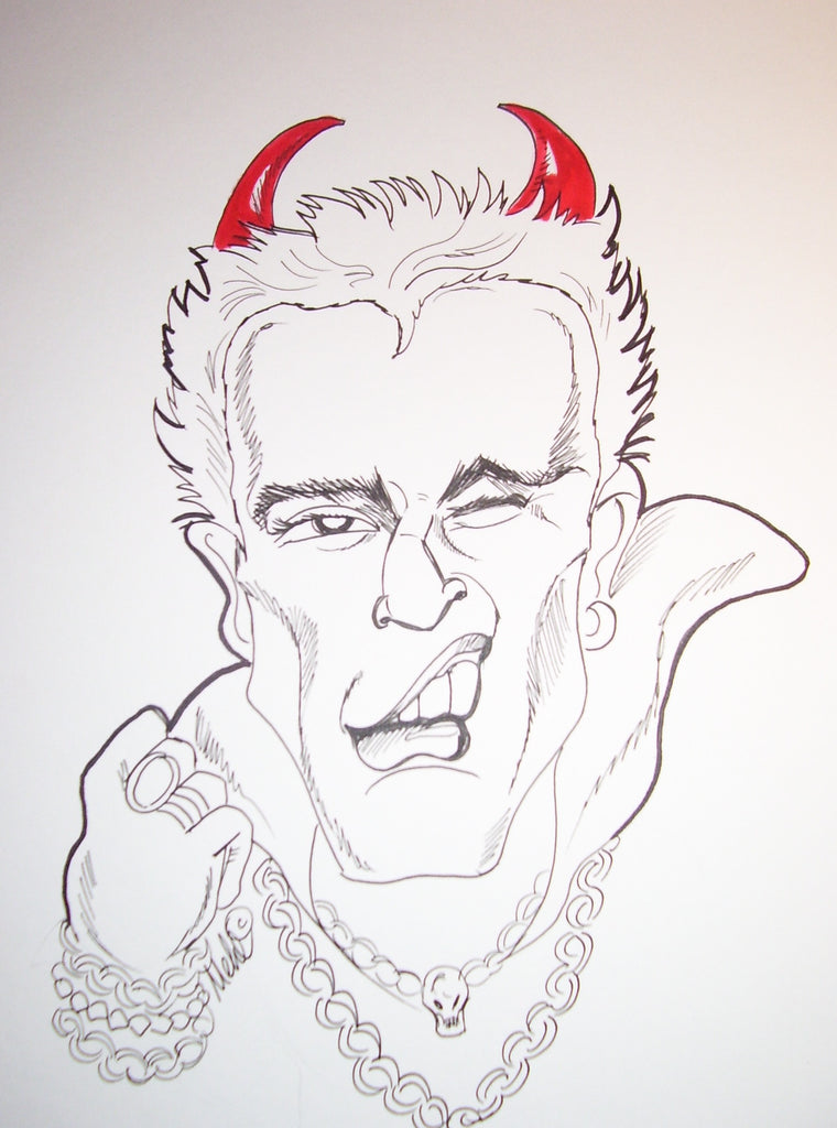 Billy Idol Rock And Roll Caricature