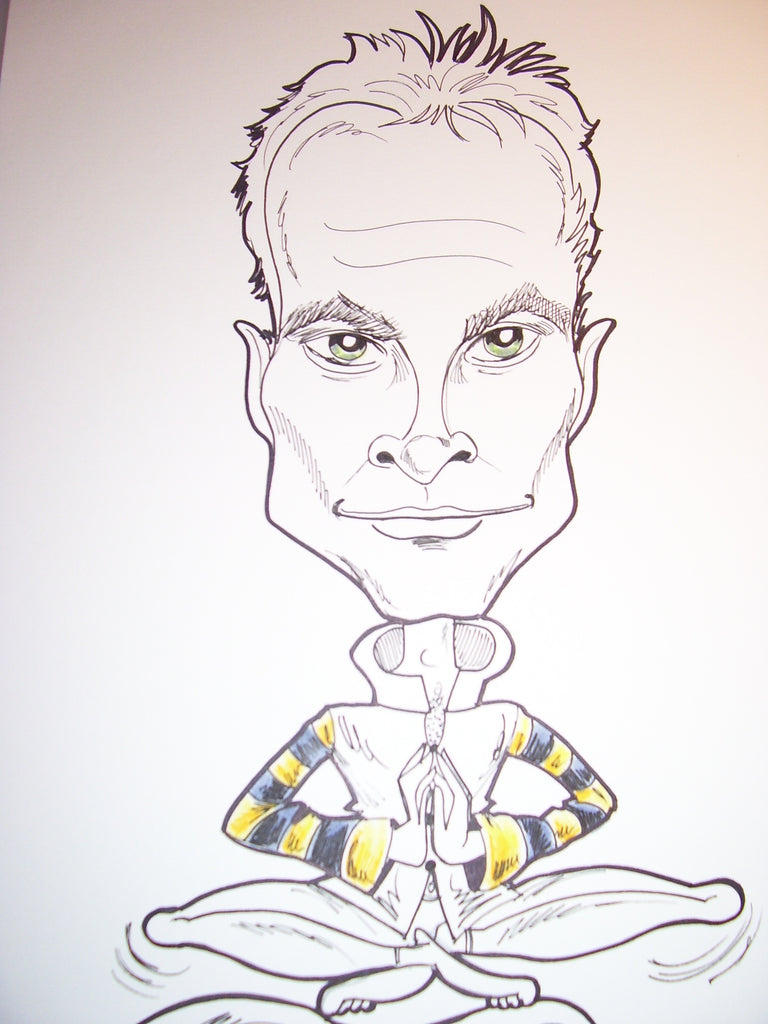 Sting Rock and Roll Caricature