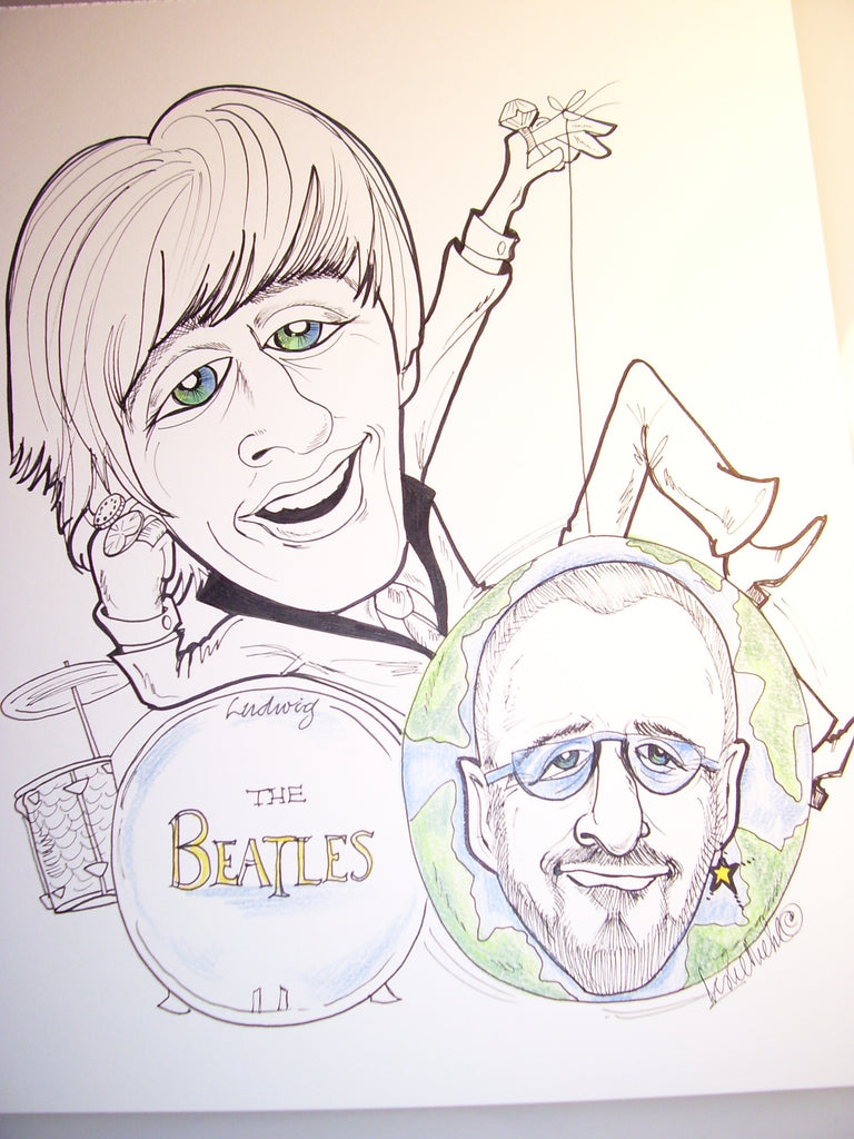 Ringo Starr  Rock & Roll Caricature