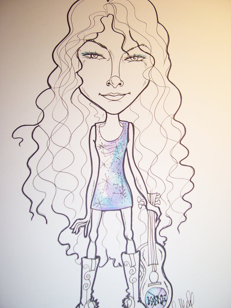 Taylor Swift Sweet Rock and Roll Caricature