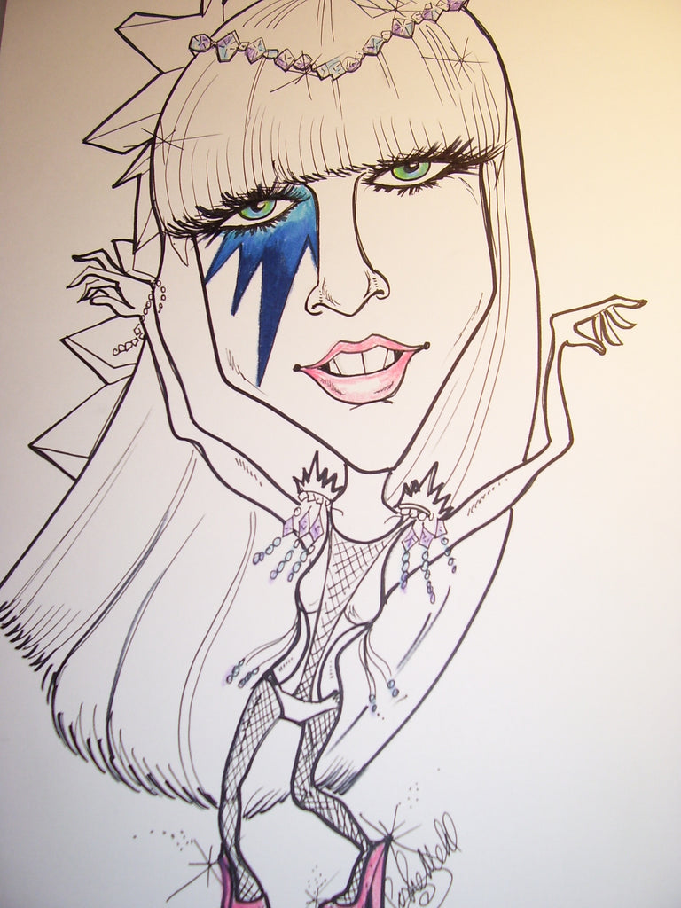 Lady GaGa Rock and Roll Caricature