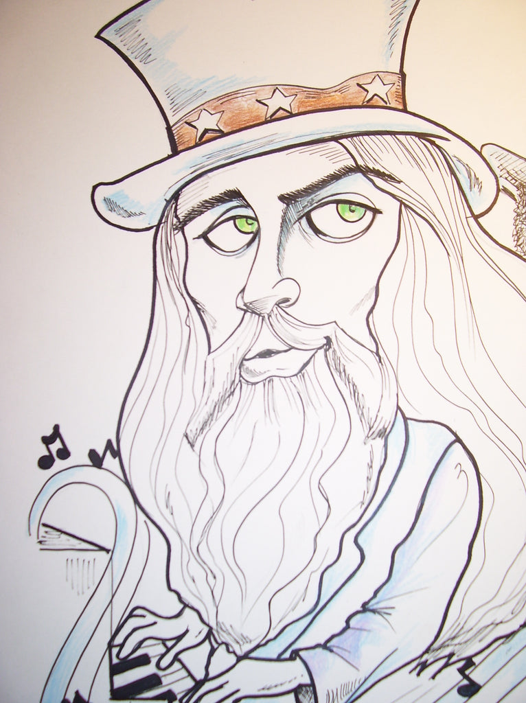Leon Russell Rock and Roll Caricature
