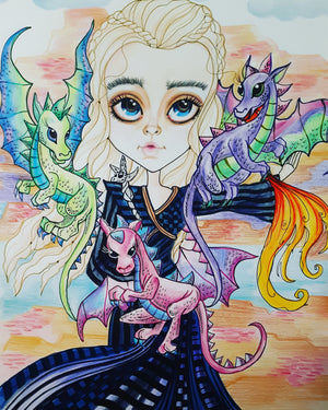 Dragons and Dragon Momma Fantasy Art