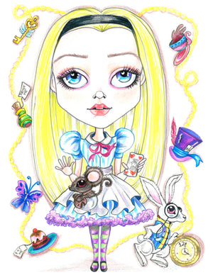 Mini Alice In Wonderland Collection #1 Fairytale Art