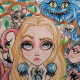 Alice Annoyed Alice In Wonderland Lowbrow Fairytale Art Print by Leslie Mehl Art