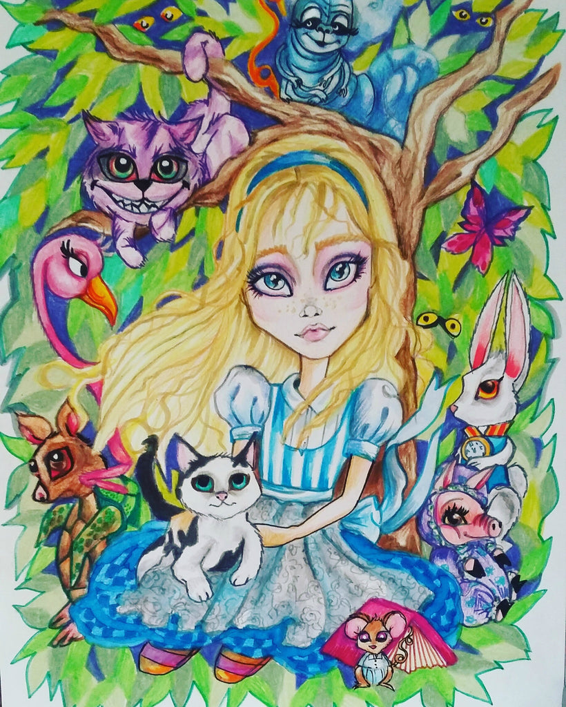 Mini Alice In Wonderland Collection #3 Fairytale Art