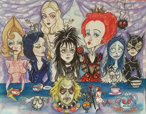 Ladies Tea Party Horror Lowbrow Art