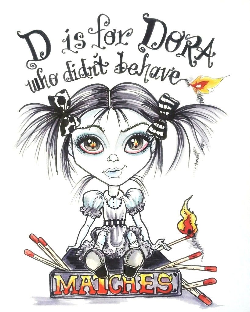 Lowbrow Art Print D Is For Dora