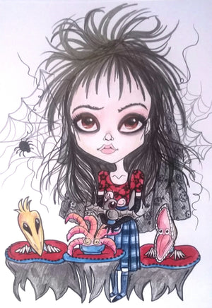 Lowbrow Pop Culture Lydia's Bake Sale Art Print