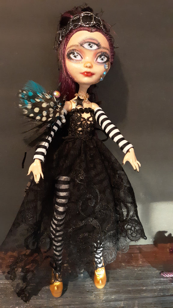 OOAK Crow Witch Doll Repaint