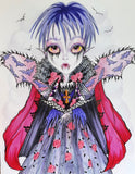 Undead Girl Sousie Vampire Lowbrow Art Print