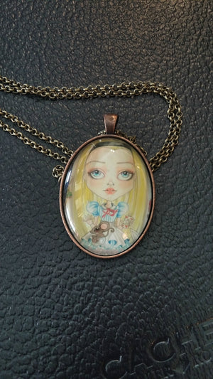 Alice In Wonderland Necklace Fantasy Pendant