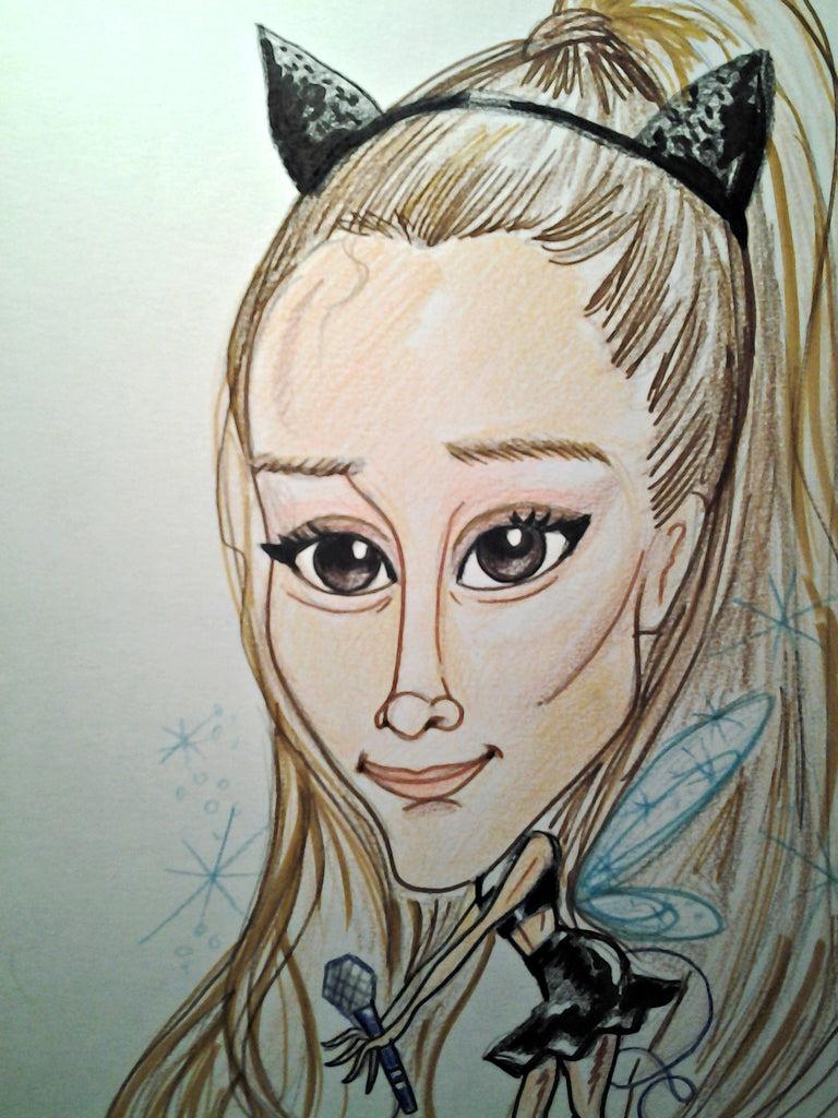 Ariana Grande Rock and Roll Caricature