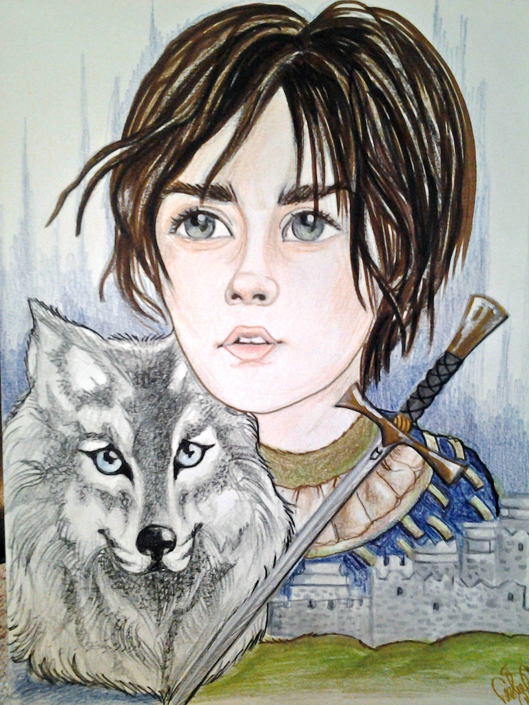 The Brave One Arya Face Portrait Fantasy Print