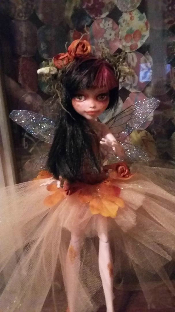 Autumn Fairy Monster High OOAK doll repaint Custom Doll