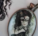 Bellatrix Horror Witch Art Necklace