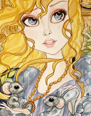 Cinderella Finds Her Slipper Fairytale Fantasy Art Print