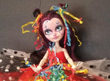 Clownie OOAK Custom Monster High Art Doll Repaint