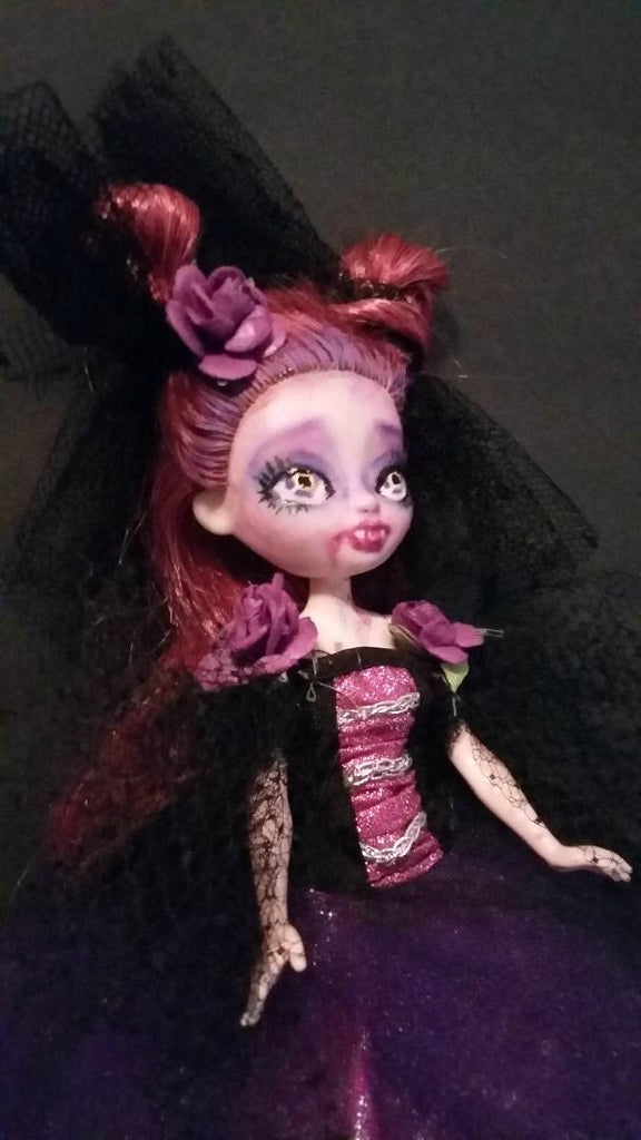 Cossette Vampire Baby Monster High OOAK Doll Repaint