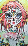 Day Of The Dead Big Eye Fantasy Art