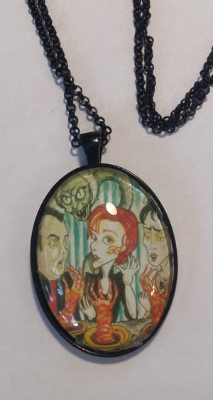 Horror Necklace The Dinner Party Movie Art Pendant Big Eye Pendant