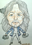 Eddie Vedder Pop Portrait Rock and Roll Caricature Music Art