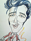 Elvis Presley Pop Portrait Rock and Roll Caricature Music Art