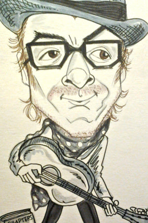 Elvis Costello Pop Portrait Rock and Roll Caricature Music Art