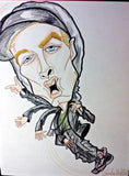 Eminem Full Color Rock and Roll Caricature