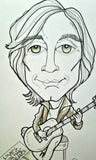 Jackson Browne Rock Portrait Rock and Roll Caricature Music Art Print