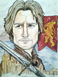 Kingslayer Game of Thrones Jamie Lannister Portrait Art Print