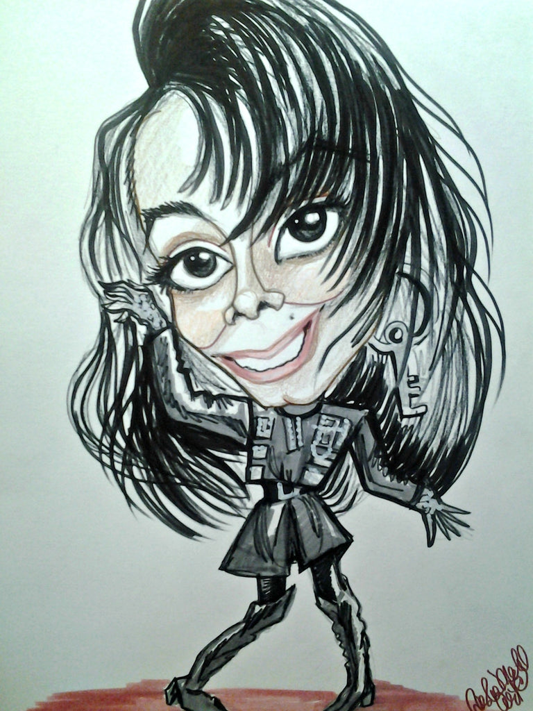 Janet Jackson Pop Portrait Rock and Roll Caricature Music Art