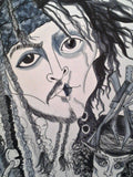 Johnny Depp Johnny Trio Pop Culture Art Print jack Sparrow Scissorhands Mad Hatter
