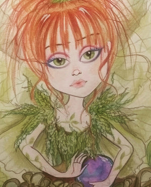 Juno Fairy Fantasy Big Eye Faiery Art Print