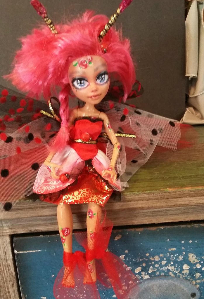 Luci Ladybug Monster High OOAK Doll