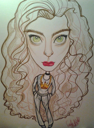 Lorde Rock and Roll Caricature