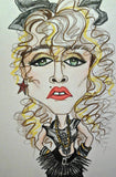 Madonna Rock Portrait Rock Caricature Music Art